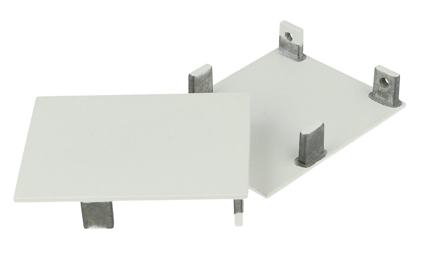 Coppia Tappi Coperture Termine Colore Bianco Per Chiusure Profilo Alluminio BA5570W - PAIO