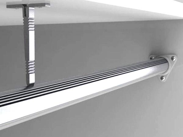 Gancio per Fissaggio Da Soffitto Muro Tetto in Armadio Sottopensile Mensola del Profilo Barra Alluminio Tondo BA6001 - PZ