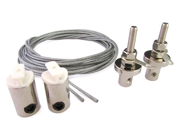 Kit Staffe Per Fissaggio Da Soffitto A Sospensione Del Profilo Barra Alluminio Tondo BA6001 e BA1537 - KIT
