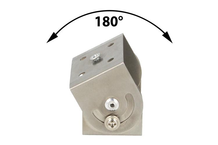 Staffa Regolabile Da Soffitto Muro Parete Sottopensile Mensola Per Profili Barra Alluminio Orientabile a 180 gradi - PZ