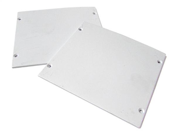 Coppia Tappi  Coperture Termine Per Chiusure Profilo Alluminio a Sospensione BA9080 - PAIO