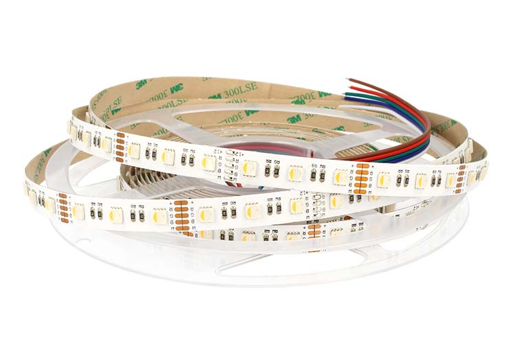24V Bobina Led RGBW Caldo RGB+WW 20W/M 300 Smd 5 Metri Larghezza 12mm - PZ