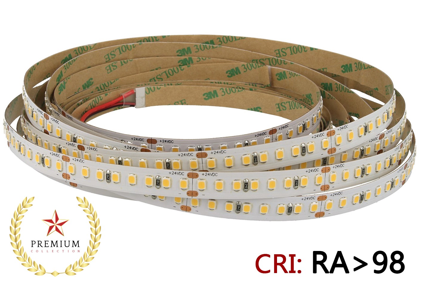 24V Bobina Led 18W/M CRI 98 Sun Feel Bianco Neutro 800 Smd 2835 5 Metri Come Luce Del Sole - PZ