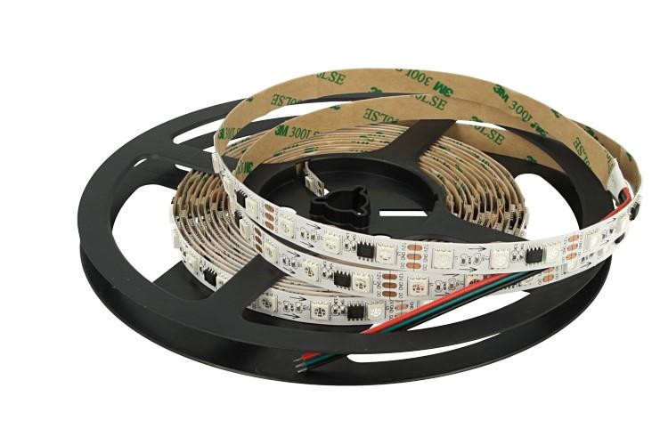 Striscia Bobina Led SPI Magic Color RGB Con IC WS2811 WS2811S 12V Con 300 Smd 5050 5 Metri IP20 Con Biadesivo - PZ