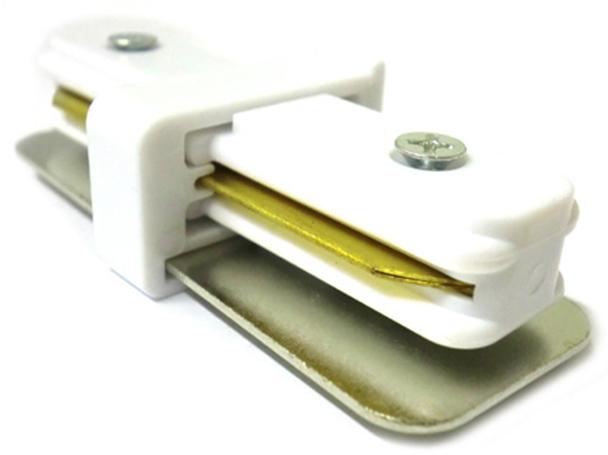 Giunto Lineare a I Connettore Per Binario Illuminazione Faretti Led Modello I Colore Bianco Per Mono Fase - PZ