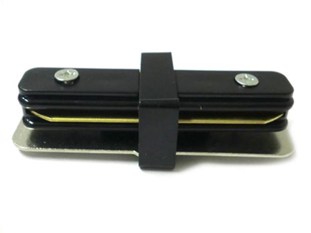 Giunto Lineare a I Connettore Per Binario Illuminazione Faretti Led Modello I Colore Nero Per Mono Fase - PZ