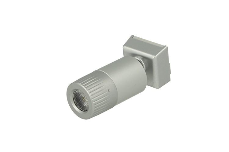 Mini Lampada Binario Faretto Led 12V 1W Bianco Caldo Snodabile Per Sistema Binario Guida Barra Plastica Elettrificata CB2107 - PZ