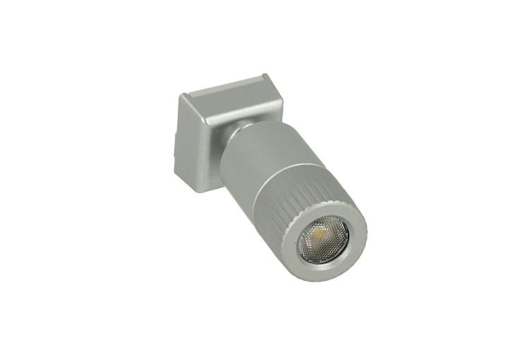 Mini Lampada Binario Faretto Led 12V 1W Bianco Neutro Snodabile Per Sistema Binario Guida Barra Plastica Elettrificata CB2107 - PZ