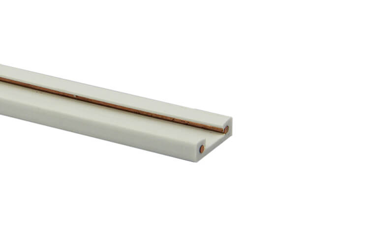 Sistema Binario Guida Barra Plastica Elettrificata Per Striscia Faretto Led 2 Metri Per Scafallatura Sottopensile Colore Bianco - PZ