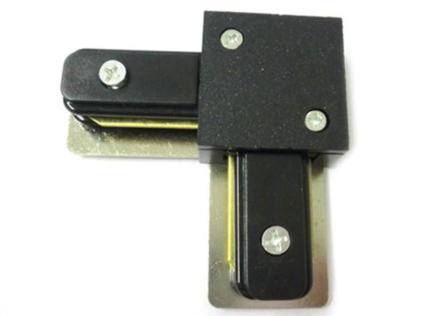 Giunto a L Connettore Per Binario Dei Faretti Led A Binario Modello L Colore Nero Per Mono Fase - PZ