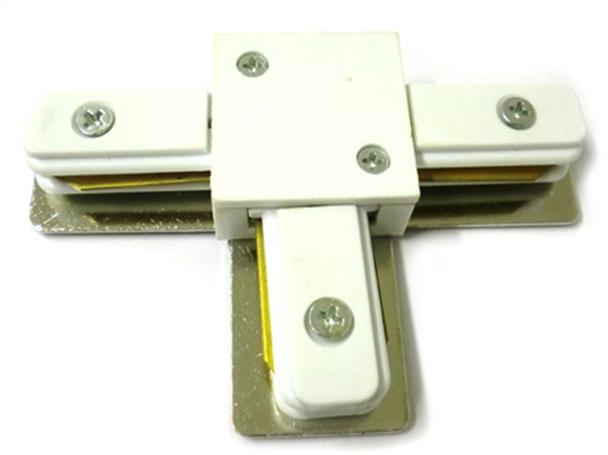 Giunto a T Connettori Per Binario Dei Faretti Led A Binario Modello T Colore Bianco Per Mono Fase - PZ