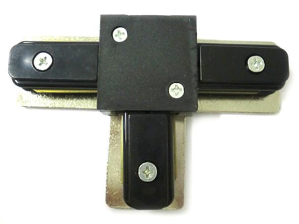 Giunto a T Connettori Per Binario Dei Faretti Led A Binario Modello T Colore Nero Per Mono Fase - PZ