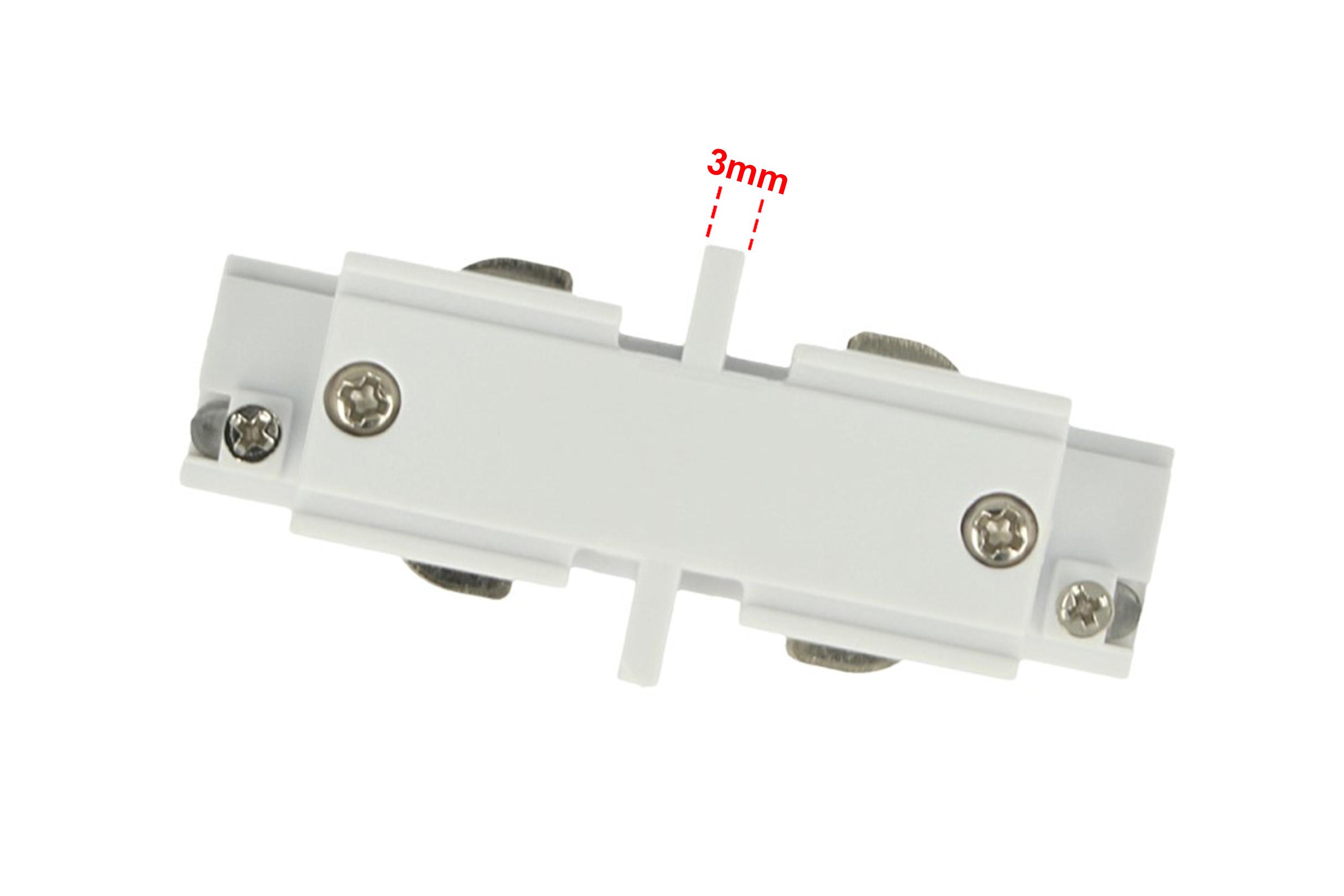 Connettore Giunto Lineare Forma I Colore Bianco Per Barra Sistema Binario Trifase CB40103 - PZ