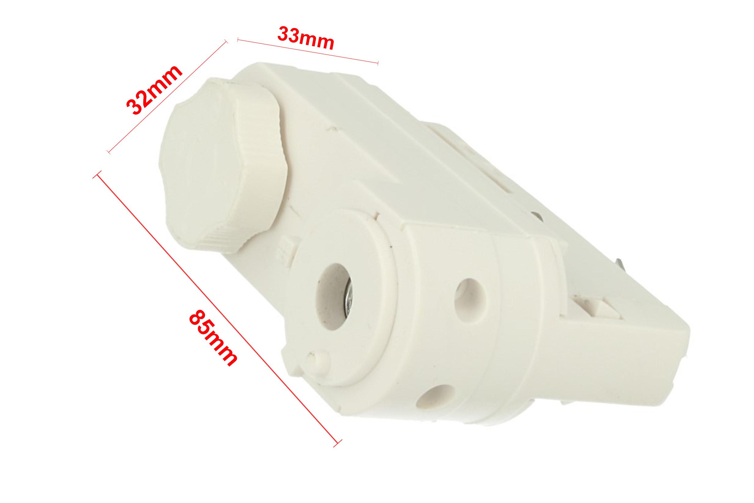 Testa Alimentazione Del Faro Led Colore Bianco Con Morsetti Per Binario Trifase CB40103 - PZ