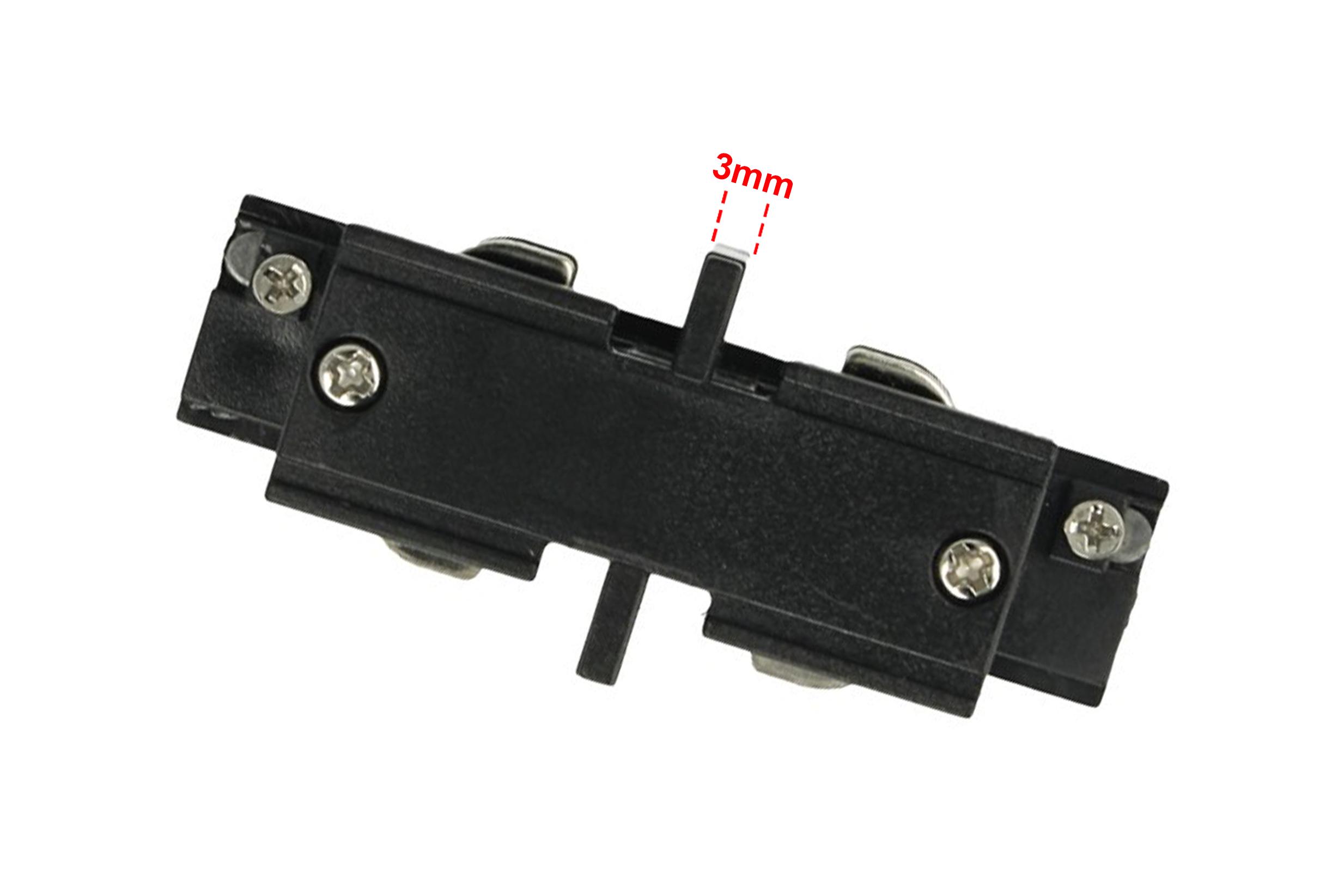 Connettore Giunto Lineare Forma I Colore Nero Per Barra Sistema Binario Trifase CB40203 - PZ