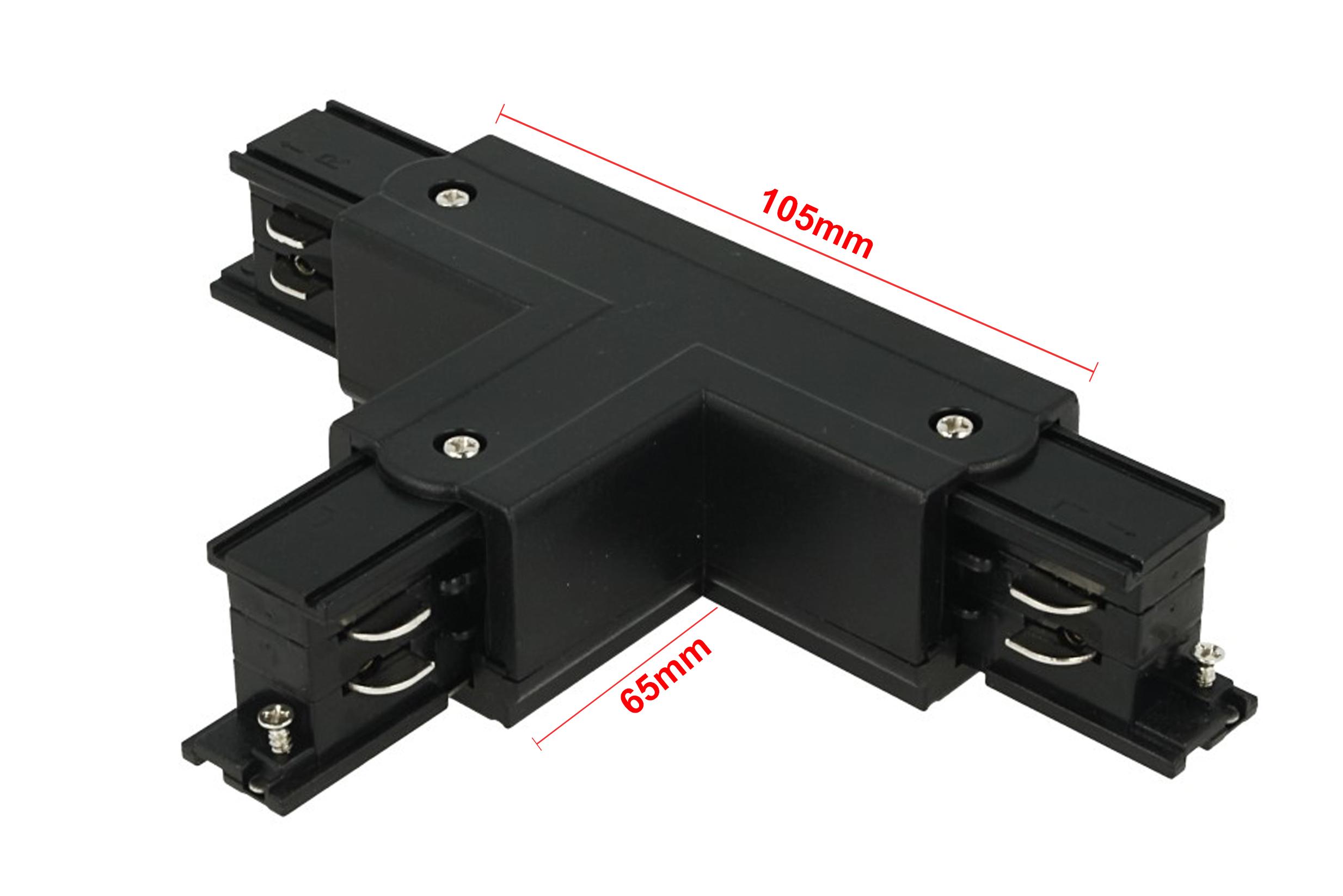 Connettore Giunto Forma T Colore Nero Per Barra Sistema Binario Trifase CB40203 - PZ