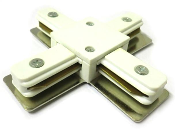 Giunto a X Connettore Per Binario Dei Faretti Led Modello X Colore Bianco Per Mono Fase - PZ