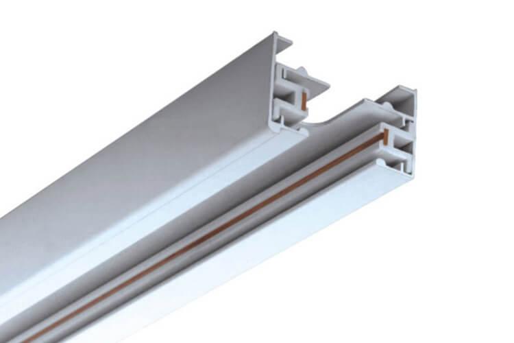 Solo Binario Guida Mono Fase Da 1 Metro Colore Bianco Per Allungamento Senza Connettore Alimentazione e Tappi Chiusure - PZ