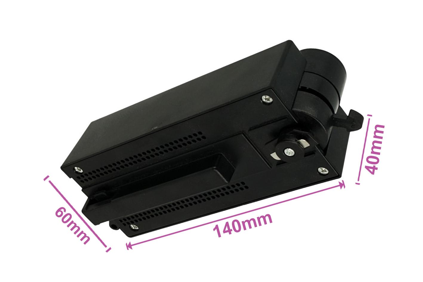 Testa Alimentazione Con Box Led Driver Colore Nero Per Faro Led Binario Mono Fase CB0080 CB7180 CB7280 CB7380 - PZ