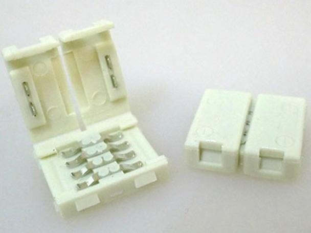 4 PZ Connettore 12mm Per Unire Due Bobine Led Smd RGB 5050 Senza Saldare - BUSTA
