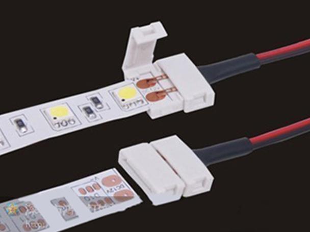 4 PZ Connettore 10mm Per Chiudere Striscia Led Smd 5050 Senza Saldare - BUSTA