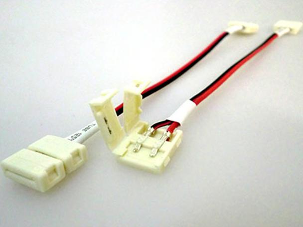 4 PZ Connettore 10mm Per Collegare Due Strip Led Smd 5050 Senza Saldare - BUSTA