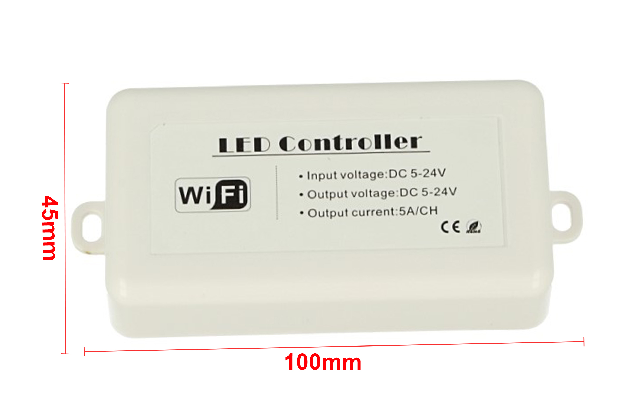 WiFi Mini Centralina Led Dimmer CCT RGB Controller Domotica Con iOS Android 12V 24V 5AX3 - KIT