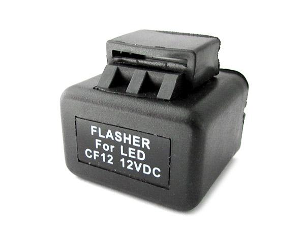 Flasher Led Lampeggiatore Rele Relay Per Frecce Led Moto e Auto Americano 12V 2 Spine CF12 - PZ