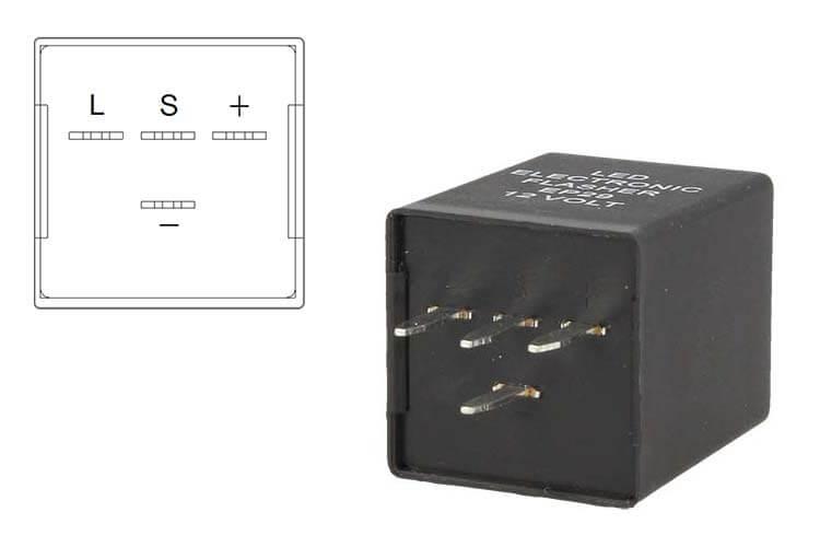 Flasher Led Lampeggiatore Rele Relay 4 Pin EP29 12V Per Frecce Led Universale - PZ