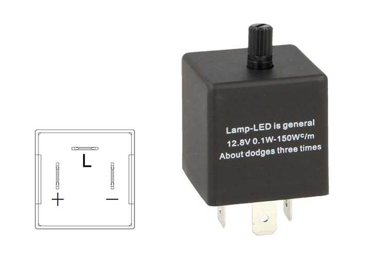 Flasher Led Lampeggiatore Rele Relay Frequenza Regolabile 3 Pin 12V CF13 Per Frecce Led Auto Giapponese - PZ