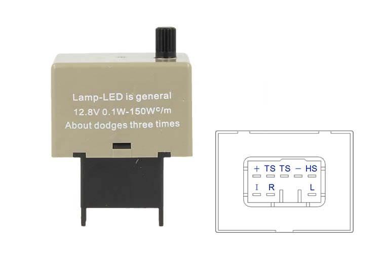 Flasher Led Lampeggiatore Rele Relay Frequenza Regolabile 8 Pin CF18 12V Per Frecce Led Auto Toyota - PZ