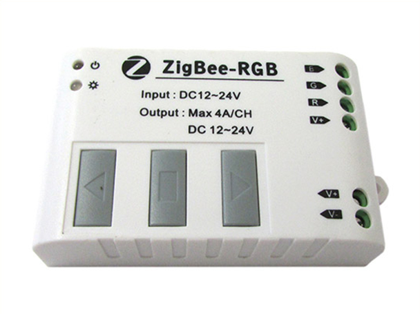 WiFi Zigbee Slave Led Controller RGB Full Colore Per Strip Led 12V 24V 4AX3 WF323 - KIT