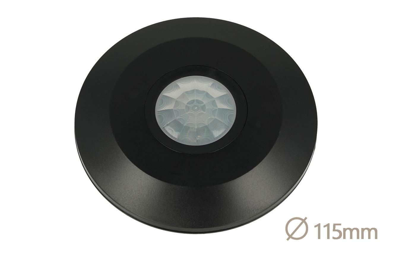 Sensore PIR Movimento e Crepuscolare Timer Da Soffitto Carcassa Nera 220V 360 Gradi SKU-5087 - KIT