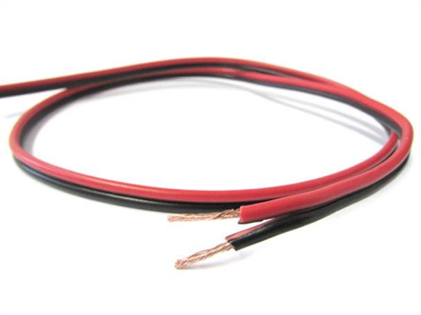 Cavo Piattina Rosso Nero 2X0,75mmq Per Filo Elettrico Altoparlanti Stereo Audio Casse 1 Metro - Metro