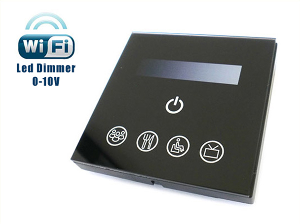 Led Dimmer Segnale 0-10V 220V 200W Touch Panel WiFi Interfacciabile Con Iphone Smartphone Android TM113 - KIT