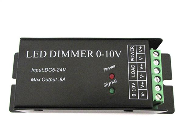 Led Dimmer Con Segnale 0-10V o Con Potenziometro 12V 24V 8A Per Striscia Led DM010 - KIT