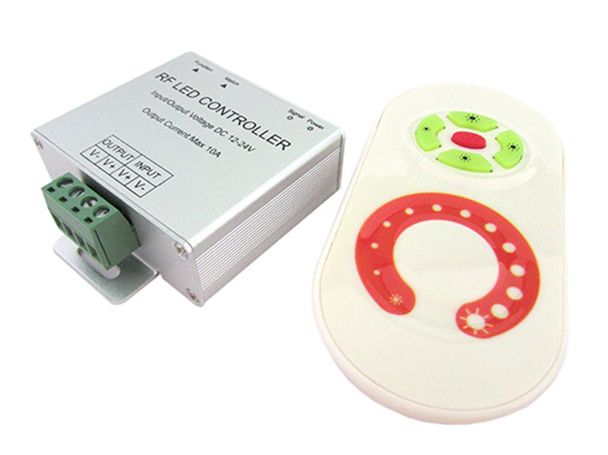 Led Dimmer Mono Colore 12V 24V 10A Con Telecomando RF Wireless Per Bobina Led RF303 - KIT