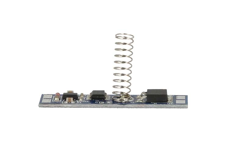 Interruttore Led Dimmer Touch Con Indicatore Led Blu 12V 24V 8A con Memoria