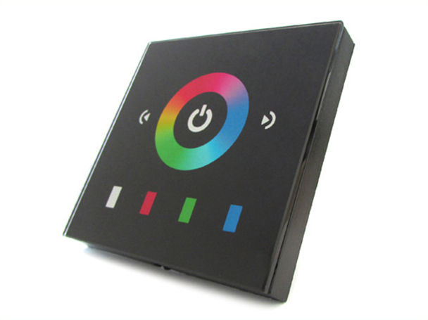 Centralina RGB Led Kit Controller Touch Panel Full Color Da Incasso Quadrata 12V 12A Per Strip Bobina Led TM08E2 - KIT
