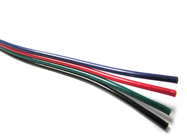 Cavo Filo Elettrico Quadri Polare 4 X 0,25 mmq Per Striscia Led RGB 1 Metro - Metro