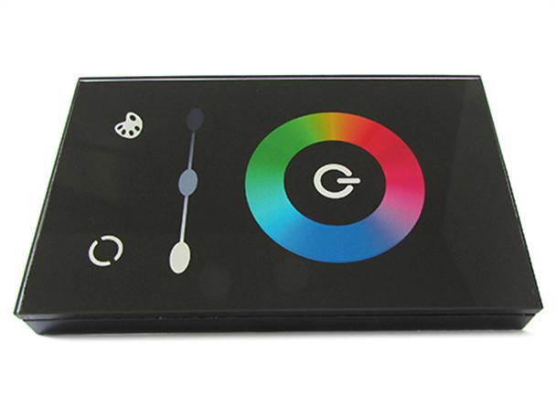 Centralina RGB Kit Led Controller Touch Pannello Da Incasso Muro Standard Italiano Scatola 503 Rettangolare 12V 144W TM08U - KIT