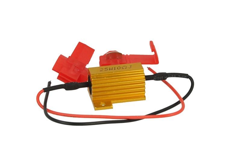 Resistenza Filtro Per Lampada LED BA15S BAY15D 25W 10 Ohm No Spia Errore Per Luci Diurne Frecce Stop - PZ