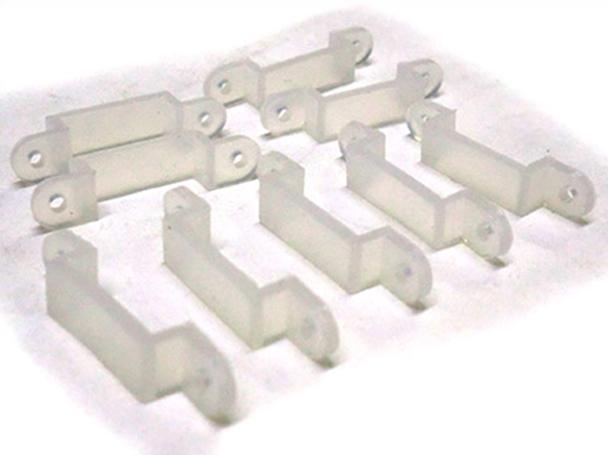 20 PZ Clip Per Fissare Bobina Strip Led Impermeabile Da 10mm Di Larghezza - BUSTA