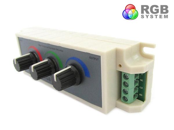 Centralina RGB Led Dimmer PWM Controller Modulo Manuale Con Manopole 12V 24V 3X3A Per Strip Led RGB - KIT