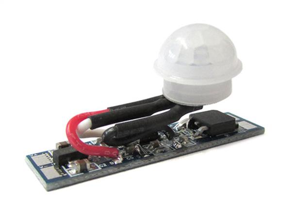 Sensore Di Movimento PIR 12V 24V 8A Per Profilo Alluminio Tempo Ritardo 40 Secondi - KIT