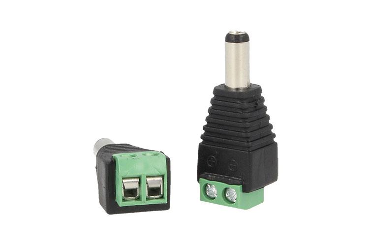 2 PZ Connettori Convertitori Da Morsetti Vite a Cavo Alimentazione DC JACK Maschio 5,5mm x 2,1mm - BUSTA