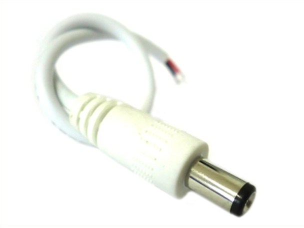 2 PZ Connettori Spinotto Maschio DC JACK Diametro 5,5mm x 2,1mm Per Alimentatore Controller Strip Led - BUSTA