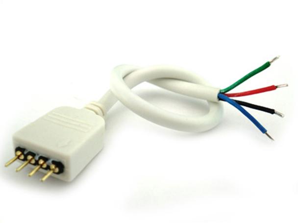 2 PZ Connettori Spina Maschio Con 4 Pin Per Striscia Bobina Led RGB - BUSTA