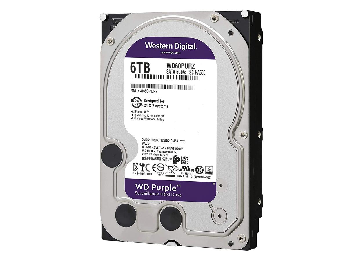 6TB Hard Disk 3.5 SATA 6Gb/s 5900rpm 64MB Per Videosorveglianza
