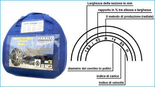 Catena Da Neve A Rombo Per Auto 9mm Gruppo 40 CARALL Omologato ONORM V 5117 - KIT